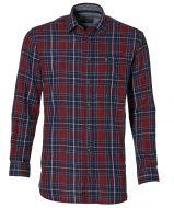 sale - J.T. Ascott overhemd - regular fit - rood