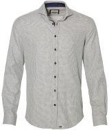 sale - Hensen overhemd - extra lang - grijs