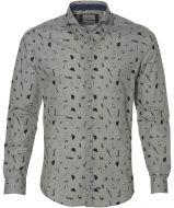 Hensen overhemd - slim fit - grijs