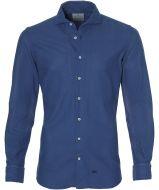 Hensen overhemd - bodyfit - blauw