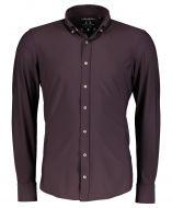 Hensen overhemd - body fit - bordeaux