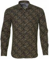 sale - Manuel Ritz overhemd - slim fit - brui