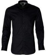 City Line by Nils overhemd - bodyfit - zwart