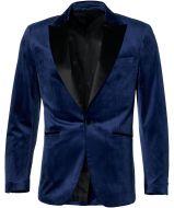Smoking colbert - slim fit - blauw