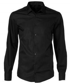 Venti overhemd - slim fit - zwart