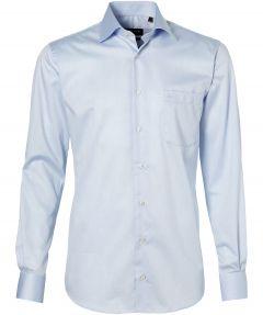 LeDub overhemd - extra lange mouw - blauw