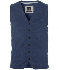 sale - Jac Hensen gilet - modern fit - blauw