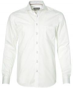 sale - LeDub overhemd - modern fit - wit