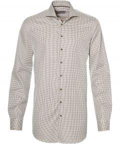 sale - Ledub overhemd - extra lang - bruin