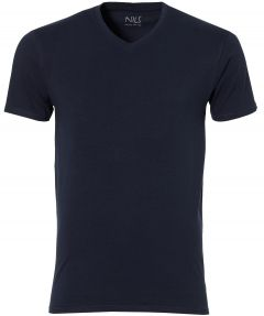 Nils T-shirt v-hals - slim fit - blauw