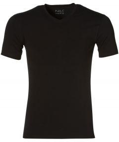 Jac Hensen T-shirt v-hals - extra lang - zwar