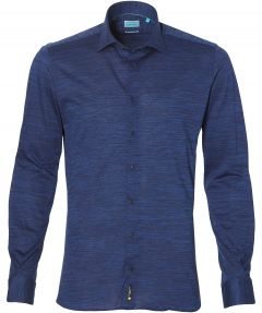 sale - British Indigo overhemd - slim fit - blauw