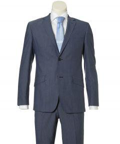 sale - Calabria kostuum - modern fit - mid blauw