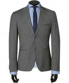 sale - City Line kostuum - slim fit - grijs