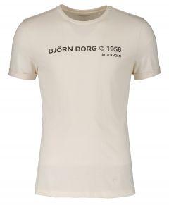 Björn Borg t-shirt - slim fit - creme