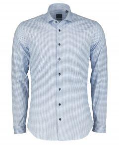 Nils overhemd - body fit - blauw