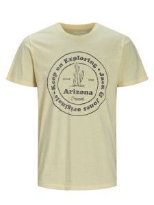 Jack & Jones t-shirt - regular fit - geel