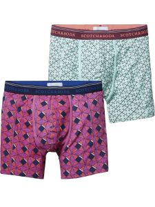 Scotch & Soda boxers 2-pack - blauw/roze