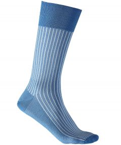 Falke sokken - Oxford stripes - blauw