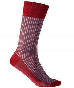 Falke sokken - Oxford stripes - rood