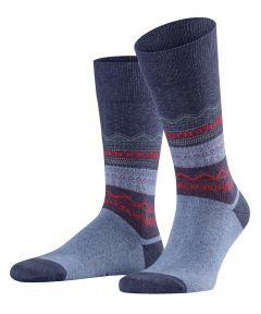 Falke sokken - Folksy Winter - blauw