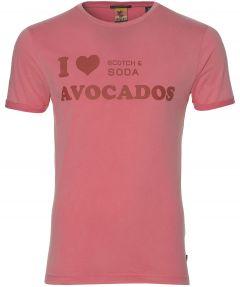 Scotch & Soda t-shirt - slim fit - roze