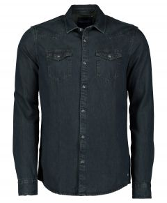 Scotch & Soda overhemd - slim fit - blauw