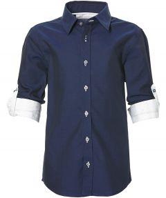 Nils overhemd - kids - blauw