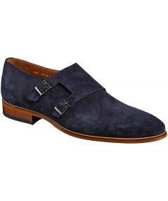sale - Nils suède schoen - donkerblauw
