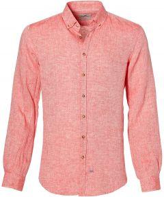 Hensen overhemd - body fit - rood