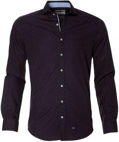 Hensen overhemd - slim fit - bordo