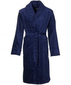 Jac Hensen badjas - modern fit - blauw