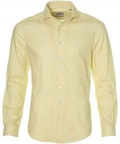 Hensen overhemd - extra lang - geel