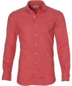 Hensen overhemd - bodyfit - rood