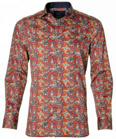 Nils overhemd - slilm fit - rood