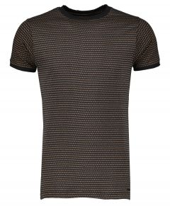 D-strezzed t-shirt - slim fit - zwart