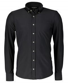 Hensen overhemd - body fit - zwart