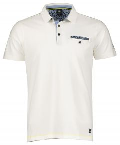 Lerros polo - regular fit - wit