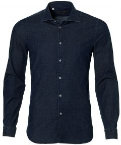 sale - Manuel Ritz overhemd - sllim fit - blauw