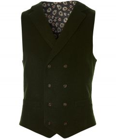 sale - Manuel Ritz gilet - slim fit - groen