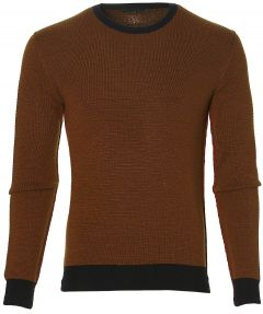 sale - Manuel Ritz pullover - slim fit - cogn