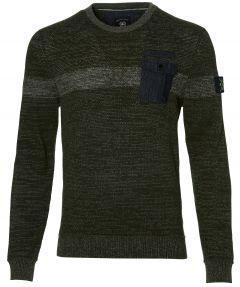 Lerros pullover - modern fit - groen