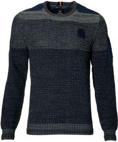 Lerros pullover - modern fit - blauw