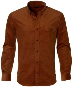 Matinique overhemd - slim fit - cognac
