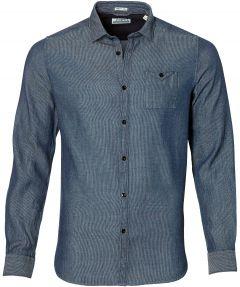 sale - Dstrezzed overhemd - slim fit - blauw
