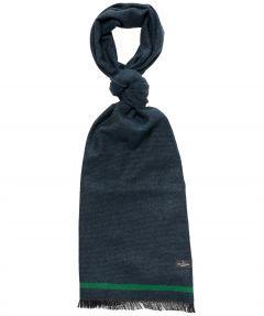 Jac Hensen shawl - wol - donkergroen