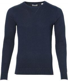 Dstrezzed pullover - slim fit - blauw
