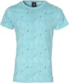 Lion t-shirt - slim fit - turquoise