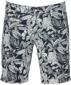sale - Lion short - slim fit - blauw