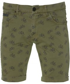 sale - Lion short - slim fit - groen
